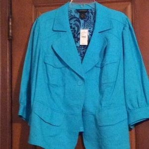 Teal blazer new with tags